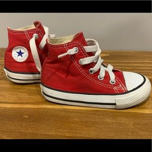 Converse All Star Chuck Taylor High Top Red Infant